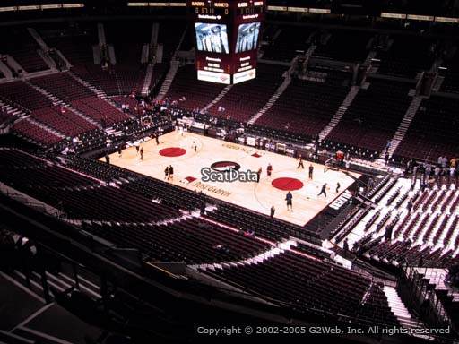 Seat view from section 315 at the Moda Center, home of the Portland Trail Blazers