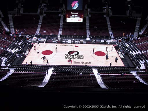 Seat view from section 318 at the Moda Center, home of the Portland Trail Blazers