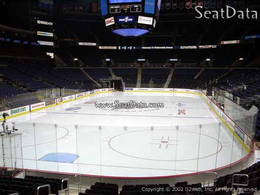 Seat view from section 108 at Nationwide Arena, home of the Columbus Blue Jackets