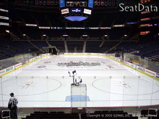 Seat view from section 109 at Nationwide Arena, home of the Columbus Blue Jackets
