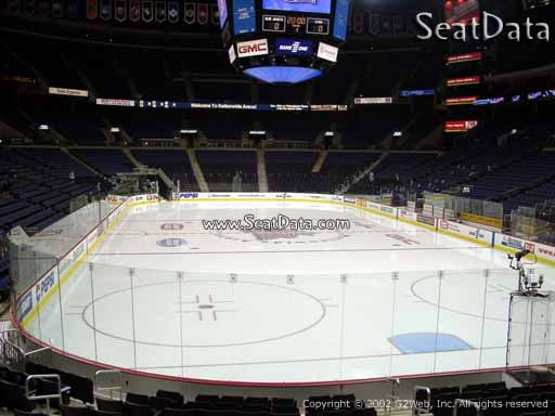 Seat view from section 110 at Nationwide Arena, home of the Columbus Blue Jackets