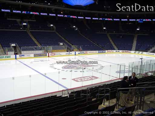 Seat view from section 116 at Nationwide Arena, home of the Columbus Blue Jackets