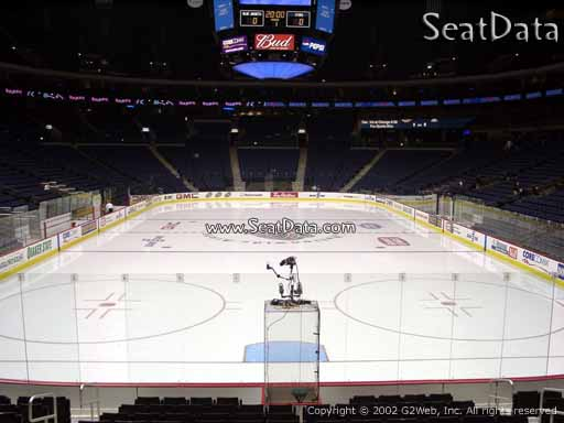 Seat view from section 120 at Nationwide Arena, home of the Columbus Blue Jackets