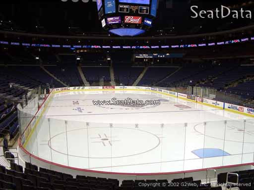 Seat view from section 121 at Nationwide Arena, home of the Columbus Blue Jackets