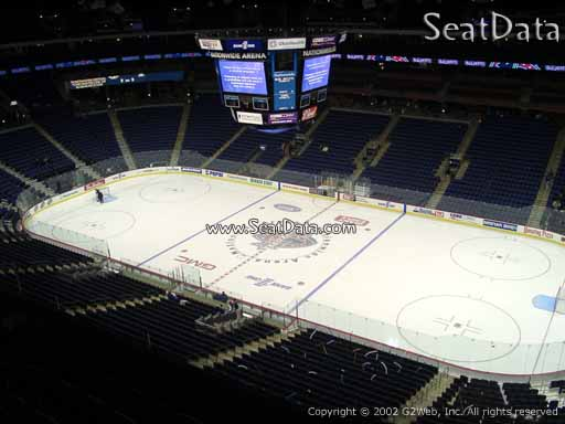 Seat view from section 201 at Nationwide Arena, home of the Columbus Blue Jackets