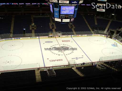 Seat view from section 204 at Nationwide Arena, home of the Columbus Blue Jackets