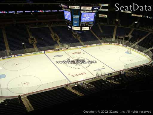 Seat view from section 205 at Nationwide Arena, home of the Columbus Blue Jackets