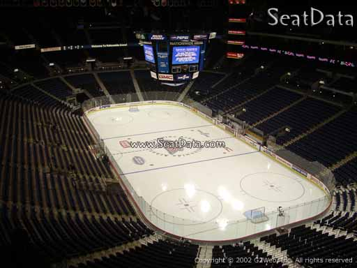 Seat view from section 212 at Nationwide Arena, home of the Columbus Blue Jackets