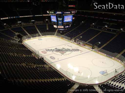 Seat view from section 213 at Nationwide Arena, home of the Columbus Blue Jackets