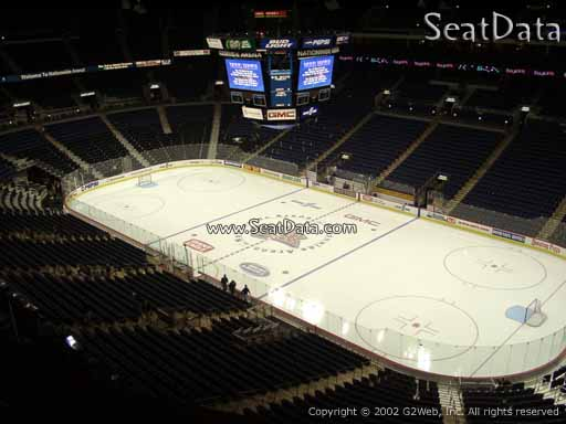 Seat view from section 214 at Nationwide Arena, home of the Columbus Blue Jackets