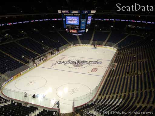 Seat view from section 222 at Nationwide Arena, home of the Columbus Blue Jackets