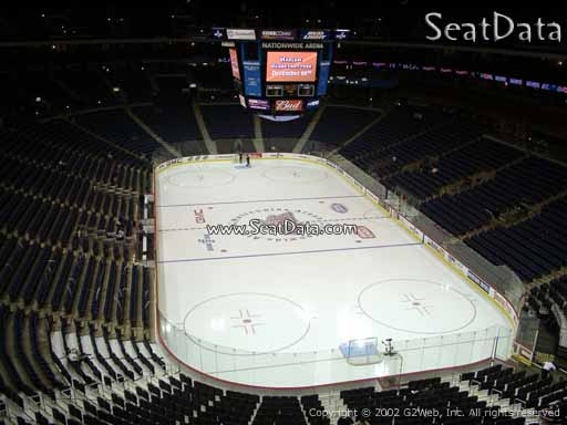 Seat view from section 225 at Nationwide Arena, home of the Columbus Blue Jackets