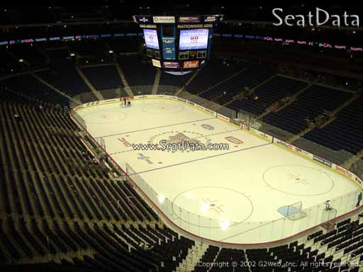 Seat view from section 227 at Nationwide Arena, home of the Columbus Blue Jackets