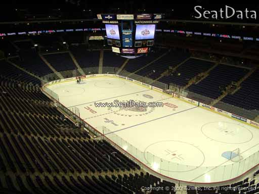 Seat view from section 228 at Nationwide Arena, home of the Columbus Blue Jackets