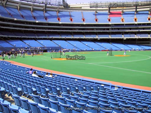 Seat view from section 113A at the Rogers Centre, home of the Toronto Blue Jays