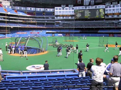Seat view from section 120 at the Rogers Centre, home of the Toronto Blue Jays.