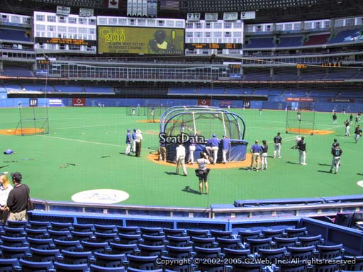 Seat view from section 123 at the Rogers Centre, home of the Toronto Blue Jays.