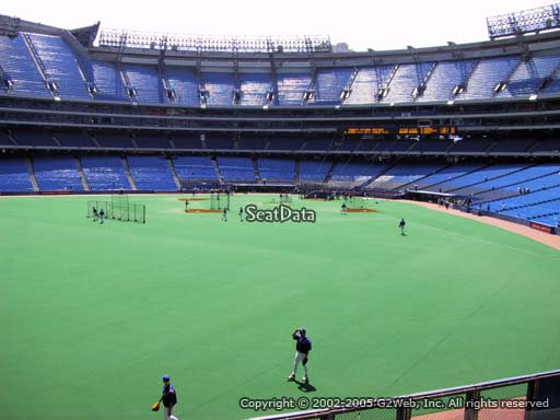 Seat view from section 137 at the Rogers Centre, home of the Toronto Blue Jays.
