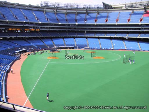 Seat view from section 209 at the Rogers Centre, home of the Toronto Blue Jays.