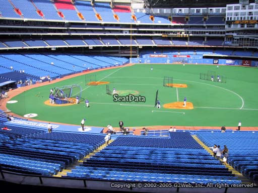 Seat view from section 219 at the Rogers Centre, home of the Toronto Blue Jays.