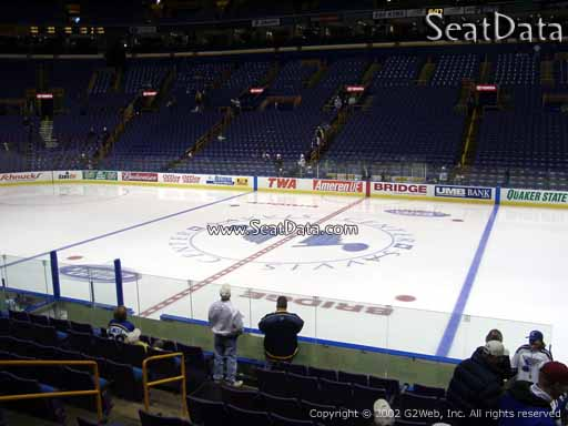 Seat view from section 102 at the Scottrade Center, home of the St. Louis Blues