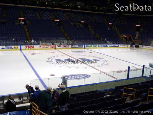 Seat view from section 104 at the Scottrade Center, home of the St. Louis Blues