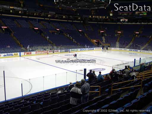 Seat view from section 105 at the Scottrade Center, home of the St. Louis Blues