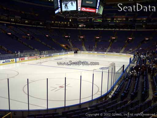 Seat view from section 107 at the Scottrade Center, home of the St. Louis Blues