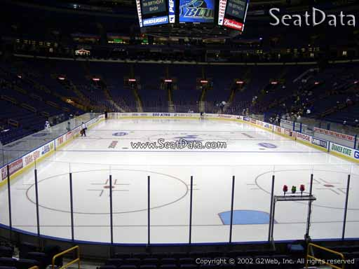 Seat view from section 110 at the Scottrade Center, home of the St. Louis Blues