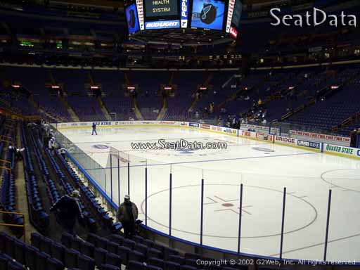 Seat view from section 112 at the Scottrade Center, home of the St. Louis Blues