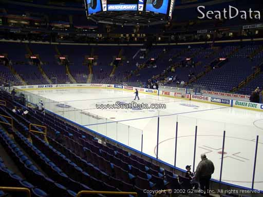 Seat view from section 113 at the Scottrade Center, home of the St. Louis Blues