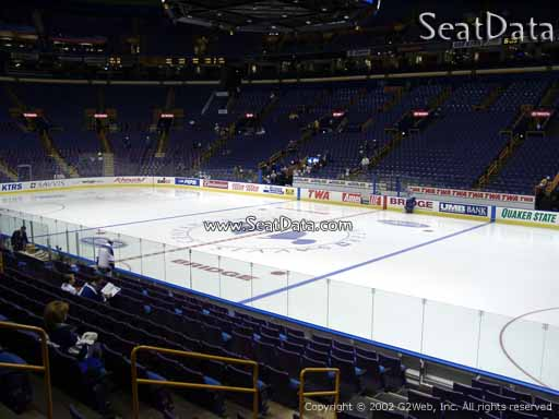Seat view from section 114 at the Scottrade Center, home of the St. Louis Blues