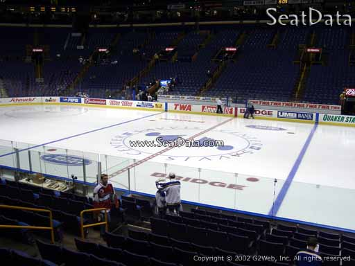 Seat view from section 115 at the Scottrade Center, home of the St. Louis Blues