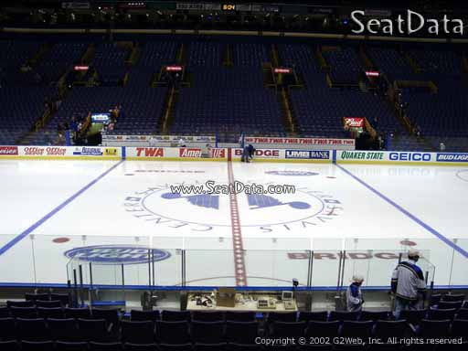 Seat view from section 116 at the Scottrade Center, home of the St. Louis Blues