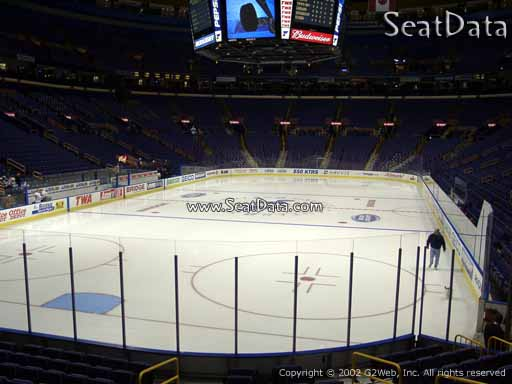 Seat view from section 121 the Scottrade Center, home of the St. Louis Blues