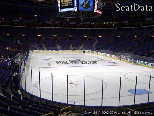 Seat view from section 124 the Scottrade Center, home of the St. Louis Blues