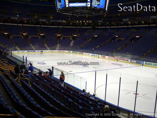 Seat view from section 126 the Enterprise Center, home of the St. Louis Blues