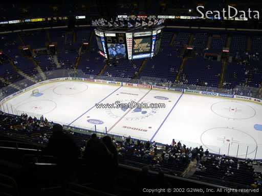 Seat view from section 301 the Scottrade Center, home of the St. Louis Blues