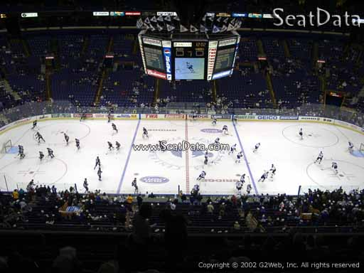 Seat view from section 303 the Scottrade Center, home of the St. Louis Blues