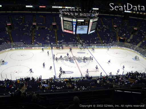 Seat view from section 304 the Scottrade Center, home of the St. Louis Blues
