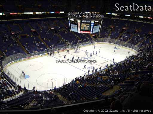Seat view from section 307 the Scottrade Center, home of the St. Louis Blues
