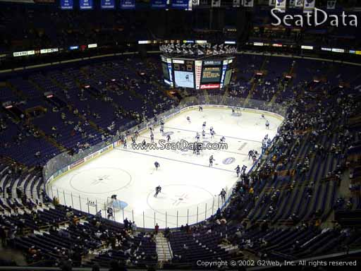 Seat view from section 309 the Scottrade Center, home of the St. Louis Blues