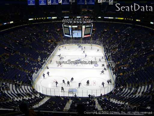 Seat view from section 311 the Scottrade Center, home of the St. Louis Blues
