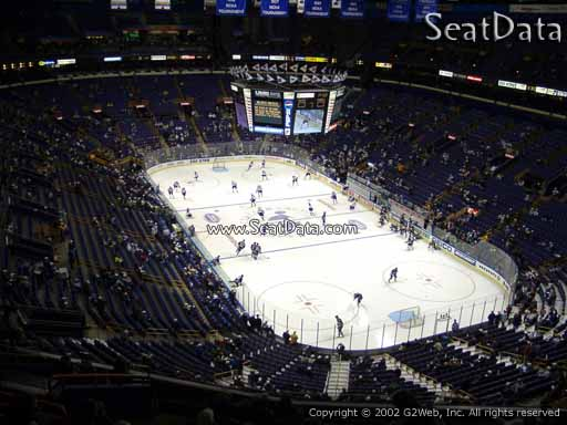 Seat view from section 314 the Scottrade Center, home of the St. Louis Blues