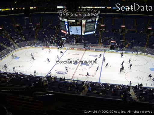 Seat view from section 319 the Scottrade Center, home of the St. Louis Blues