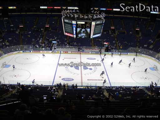 Seat view from section 320 the Scottrade Center, home of the St. Louis Blues
