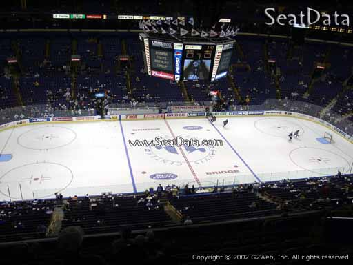 Seat view from section 321 the Scottrade Center, home of the St. Louis Blues