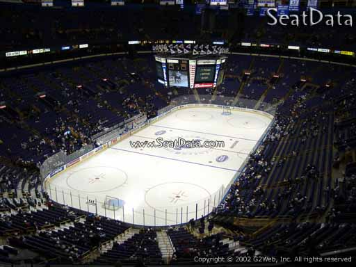 Seat view from section 325 the Scottrade Center, home of the St. Louis Blues