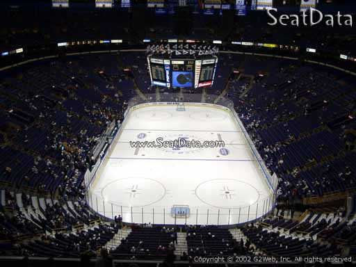 Seat view from section 328 the Scottrade Center, home of the St. Louis Blues