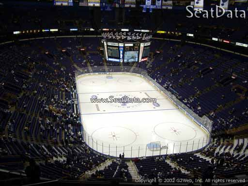 Seat view from section 330 the Scottrade Center, home of the St. Louis Blues